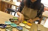 陶芸作業風景